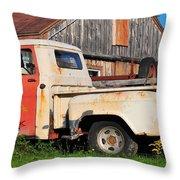 Vintage Ride Throw Pillow