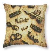 Vintage Romance Throw Pillow