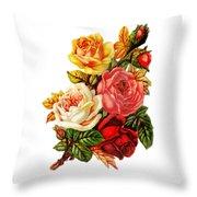 Vintage Rose I Throw Pillow by Kim Kent