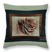 Vintage Rose On Old Wall 2 By Kaye Menner Throw Pillow