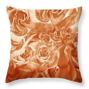 Vintage Rose Petals Abstract  Throw Pillow