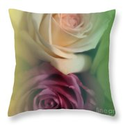 Vintage Roses 2 Throw Pillow