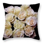 Vintage Roses Bouquet Throw Pillow