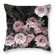Vintage Roses In Pink 2  Throw Pillow