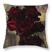 Vintage Roses In Vintage Paris Throw Pillow
