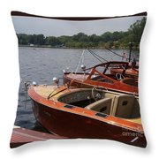 Vintage Row Throw Pillow