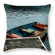 Vintage Rowboat Throw Pillow