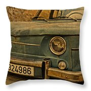 Vintage Rusty Renault Truck Throw Pillow
