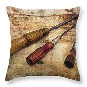 Vintage Screwdrivers Throw Pillow