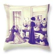 Vintage Seamstress Throw Pillow