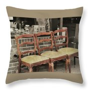 Vintage Seating Throw Pillow