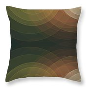 Vintage Semi Circle Background Horizontal Throw Pillow