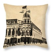 Vintage Shibe Park In Sepia Throw Pillow