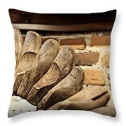 Vintage Shoe Forms Throw Pillow