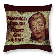 Vintage Sign 2e Throw Pillow