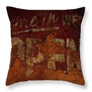 Vintage Sign 89c Throw Pillow