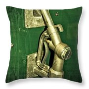 Vintage Sinclair Dino Gas Pump Throw Pillow