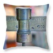 Vintage Sliding Balance Scale Throw Pillow