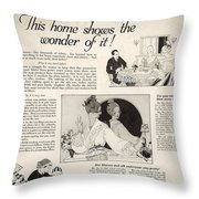 This Home Shows The Wonder Vintage Soap Ad Throw Pillow