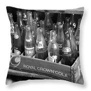 Vintage Soda Case  Throw Pillow