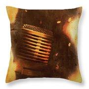 Vintage Sound Check Throw Pillow