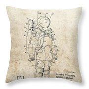 Vintage Space Suit Patent Throw Pillow