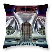 Vintage Speedster Throw Pillow