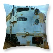 Vintage Steam Engine Throw Pillow