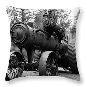 Vintage Steam Tractor Throw Pillow