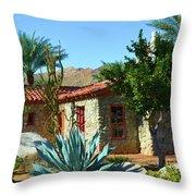 Vintage Stone House Throw Pillow