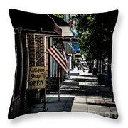 Vintage Street View Throw Pillow