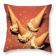 Vintage Summer Ice Cream Spill Throw Pillow