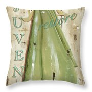 Vintage Sun Beach 1 Throw Pillow