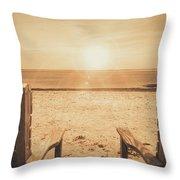 Vintage Sunrise Throw Pillow