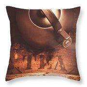 Vintage Tea Break Throw Pillow