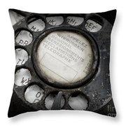 Vintage Telephone Throw Pillow by Lainie Wrightson