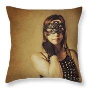 Vintage Theatre Show Girl  Throw Pillow