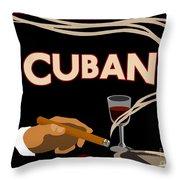 Vintage Tobacco Cuban Cigars Throw Pillow
