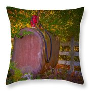 Vintage Tokheim Tank And Pump Throw Pillow