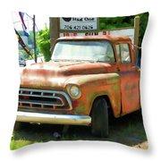 Vintage Tow Truck Throw Pillow