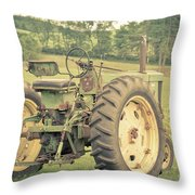 Vintage Tractor Keene New Hampshire Throw Pillow