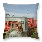 Vintage Tractors Prince Edward Island Throw Pillow