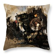 Vintage Train 06 Throw Pillow