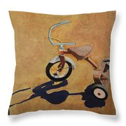 Vintage Tricycle Throw Pillow