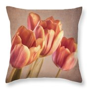 Vintage Tulips Throw Pillow by Wim Lanclus