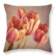 Vintage Tulips Throw Pillow