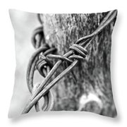 Vintage Twist Throw Pillow
