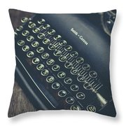 Vintage Typewriter Faded Film Throw Pillow
