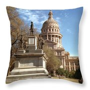 Vintage View Of The Monument To The Confederate Soldiers At The  Throw Pillow