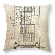 Vintage Voting Machine Patent Throw Pillow